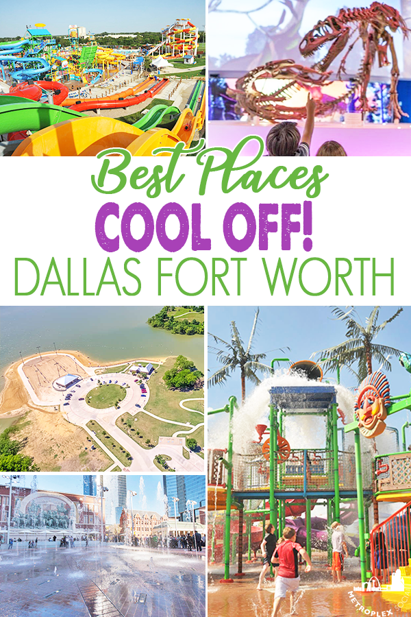 BEST PLACES DFW COOL OFF SUMMER pin