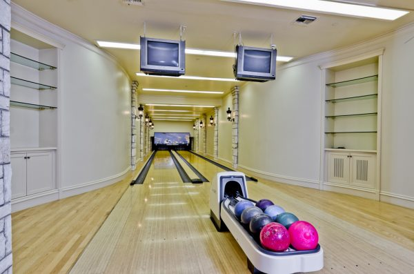 champ d'or hickory creek dallas mansion bowling alley