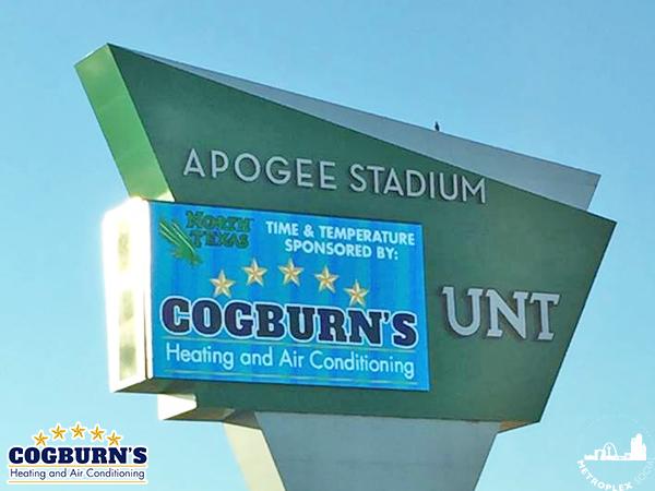 denton air conditioning dfw ac UNT apogee stadium