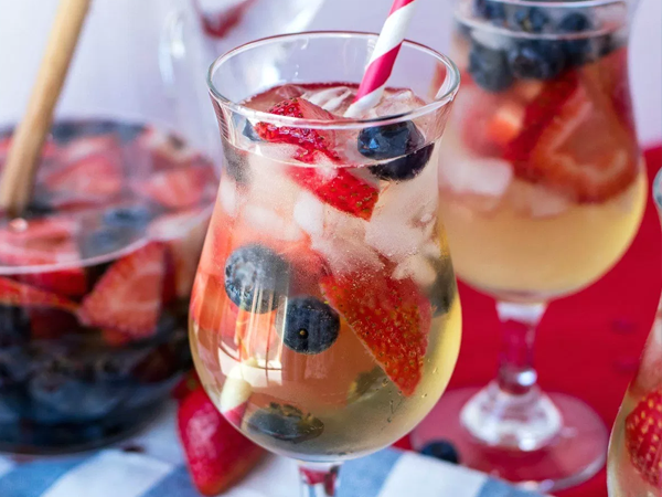 patriotic party drink ideas red white blue sangria