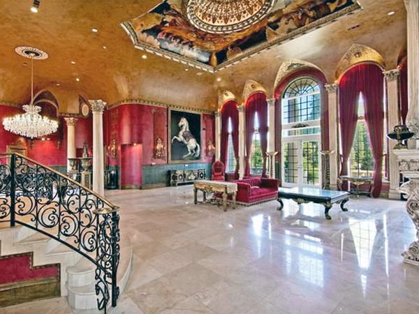 flower mound mansion french chateau 12