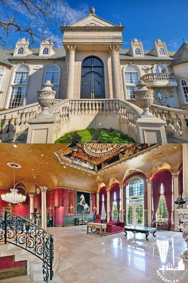 flower mound mansion french chateau pin