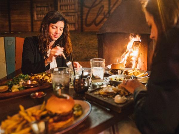 the rustic dallas outdoor patio dining