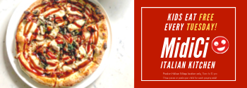 midici pizza kids eat free dallas