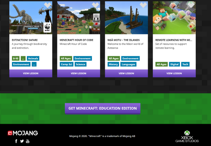 free minecraft education