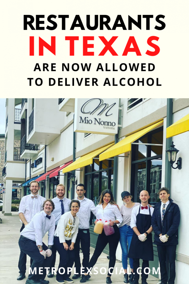 texas restaurants deliver alcohol drinks