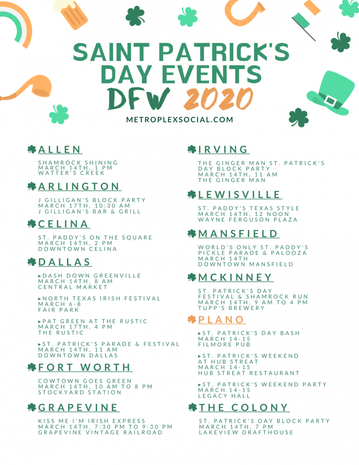 saint patricks day events in dallas fort worth