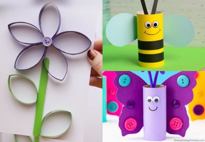 toilet paper spring crafts
