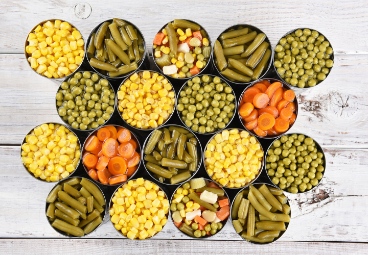 grocery store survival foods canned vegetables