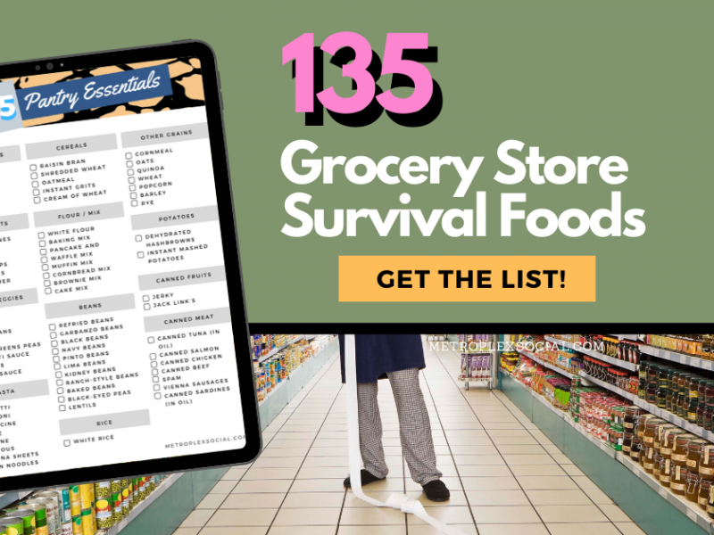 shopping list grocery store survival foods shut down fb
